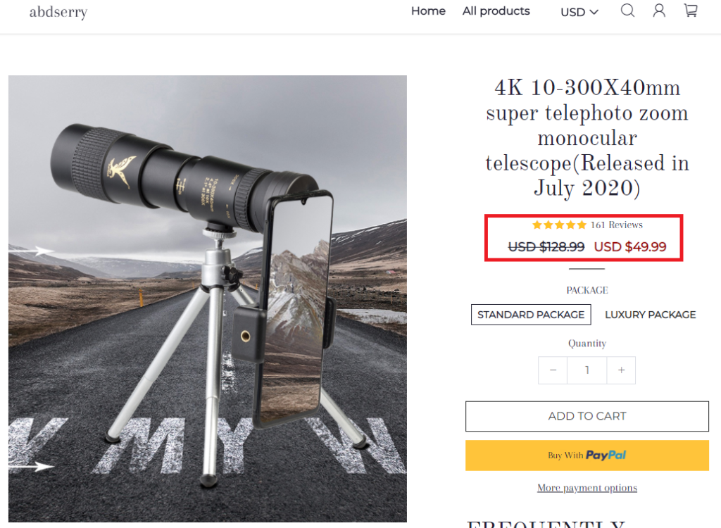 abdserry scam 4k telescope