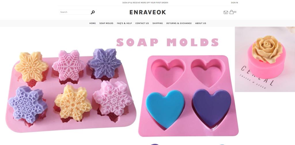 enraveok scam home page