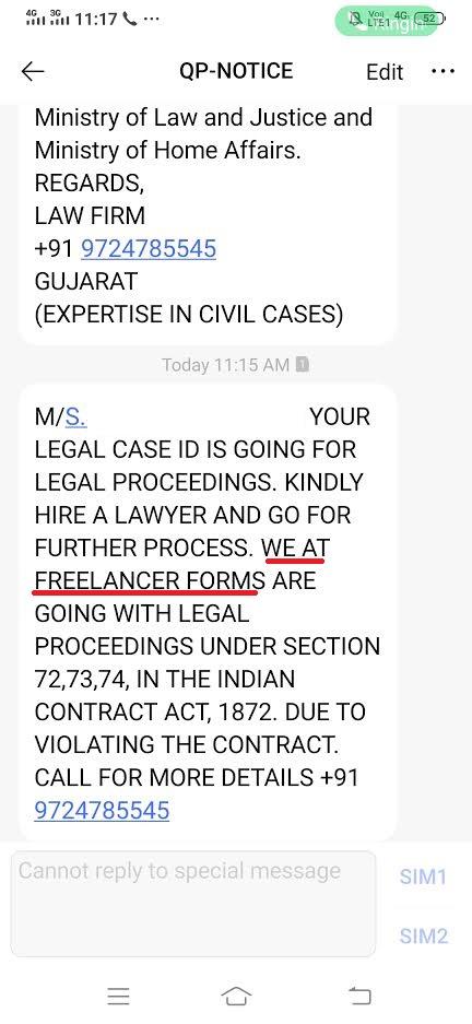freelancerforms resume filling scam