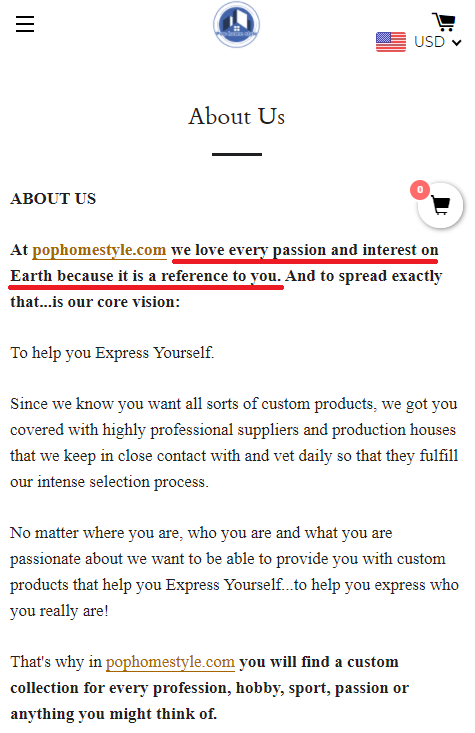 passion and interest scam network pophomestyle scam about us