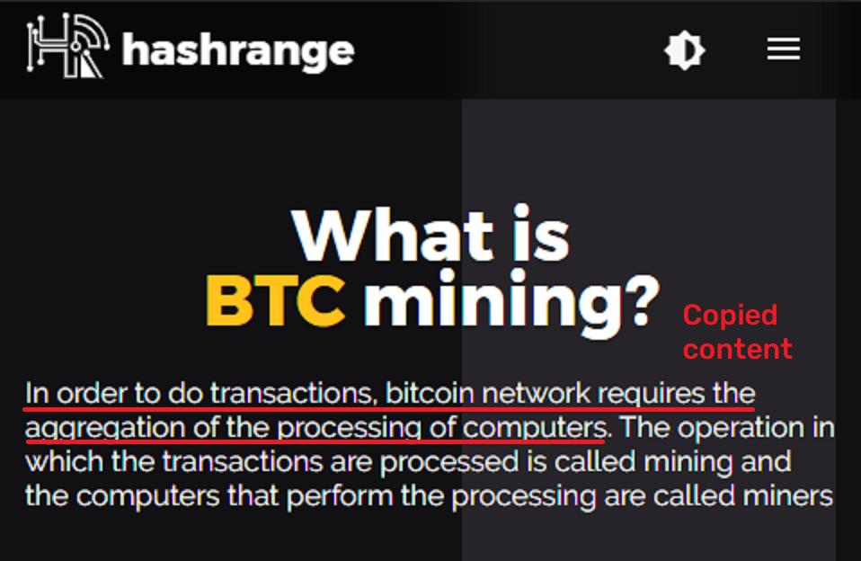 hash range scam copied content 1