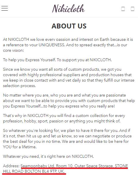 nikicloth scam fake company