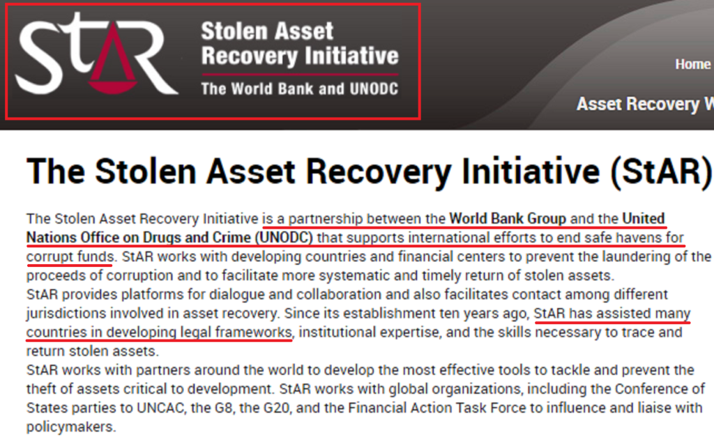 Stolen Asset Recovery Initiative (StAR) about us
