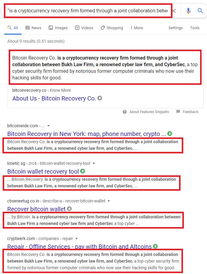 copied content google search 2