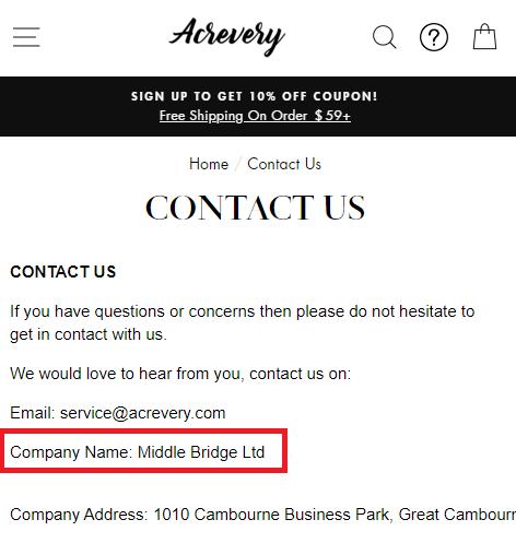 acrevery middle bridge scam network