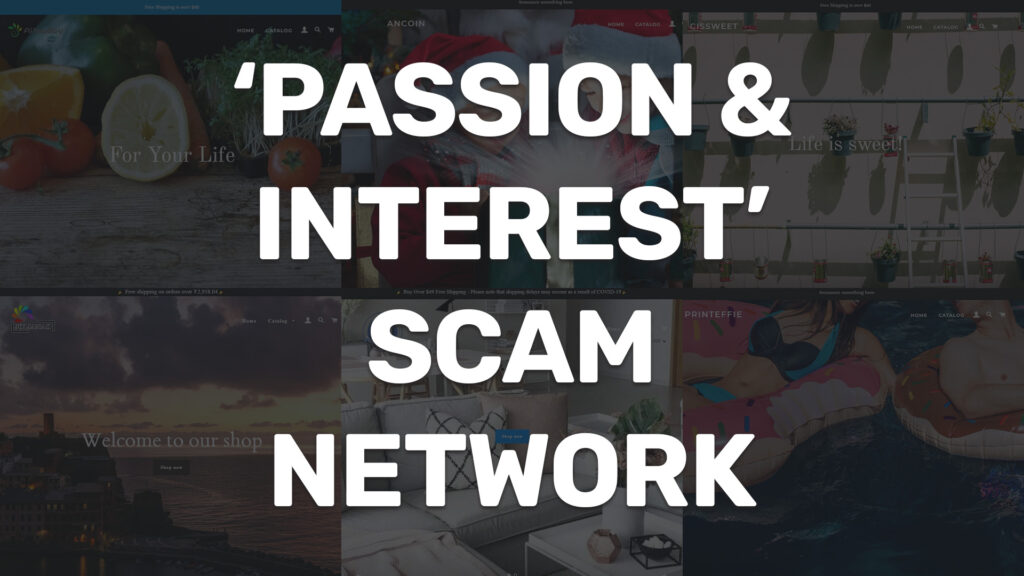 passion and interest scam network cover image