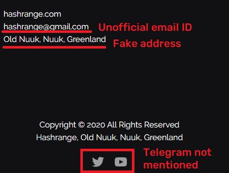hash range contact details