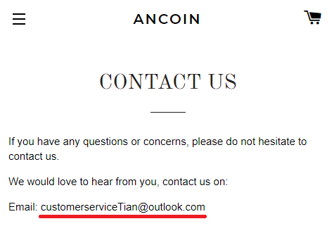 ancoines scam contact us