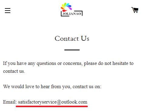 jolianao scam contact us