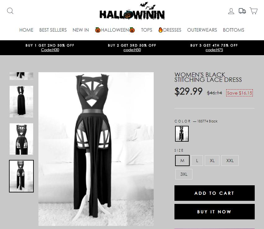 hallowinin scam dress 1
