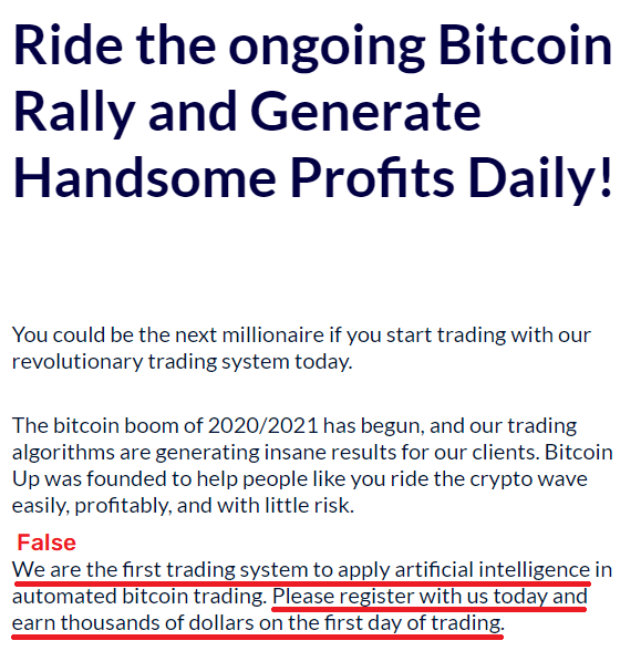 bitcoin up scam profits 2