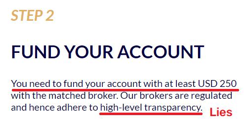 bitcoinup scam minimum deposit