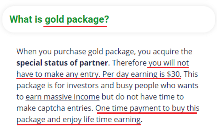 easy typing job scam gold package 1