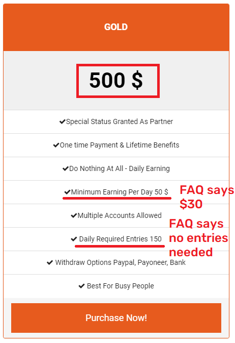 easy typing job scam gold package 2