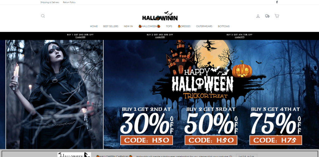 hallowinin scam home page