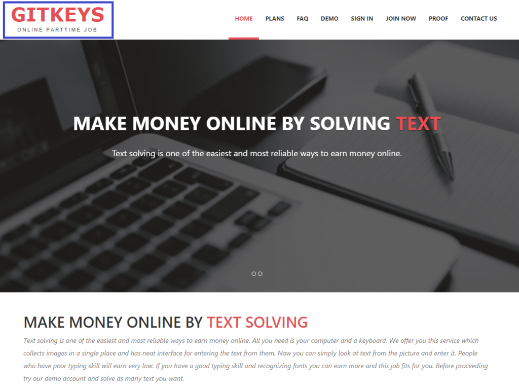 gitkeys scam copied home page