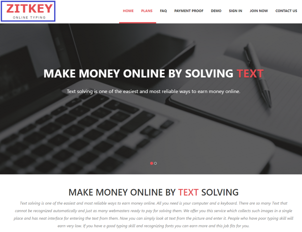 zitkeys scam home page