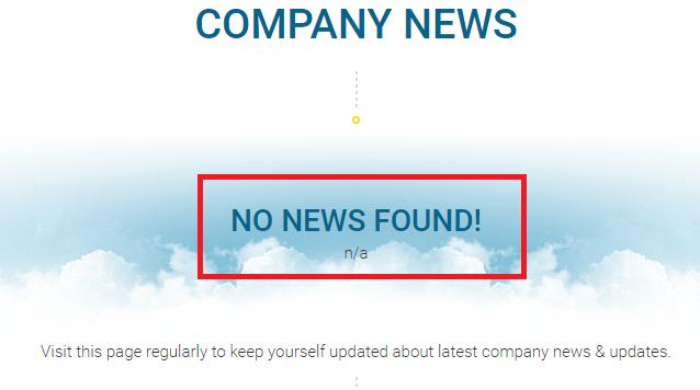 no news found