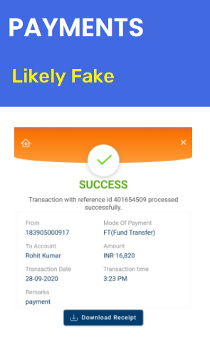 resumefilling scam fake payment proof
