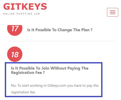 gitkeys mandatory payment