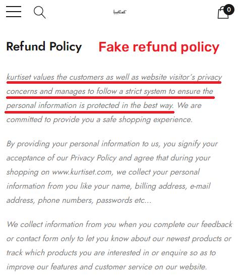 kurtiset scam fake refund policy