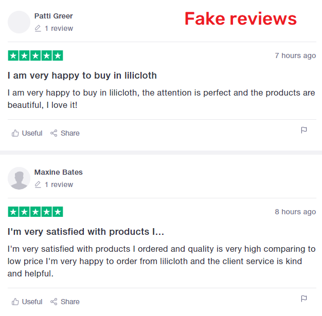 lilicloth scam fake reviews