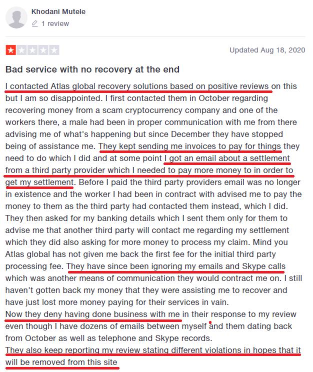 atlas global scam trustpilot review 1