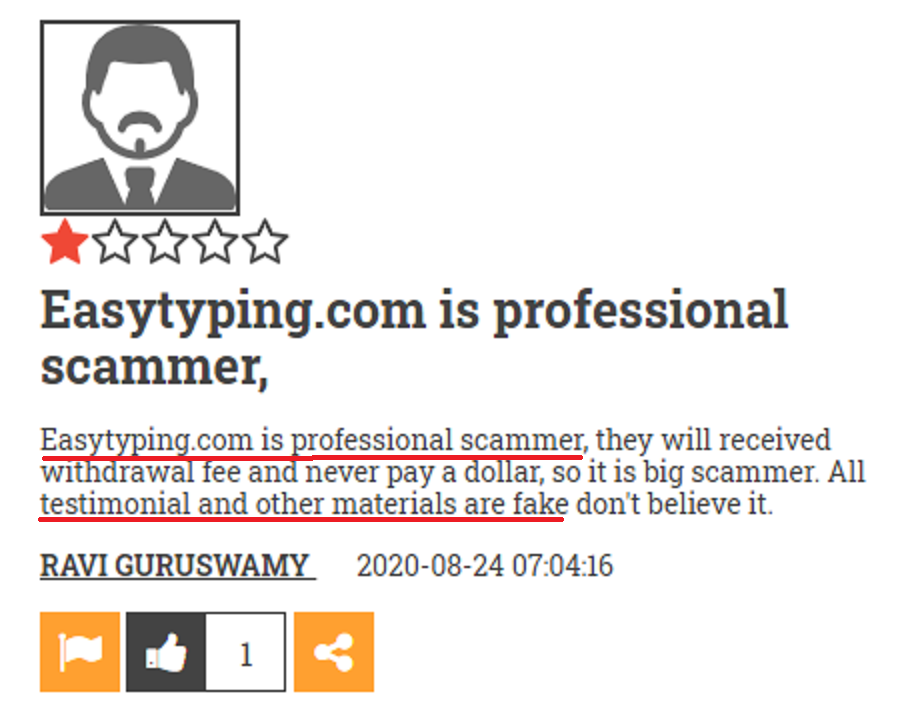 easy typing job scam review 4