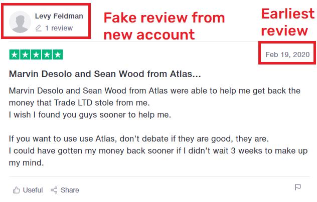 atlas global scam trustpilot first review
