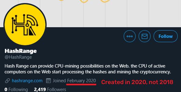 hash range scam twitter