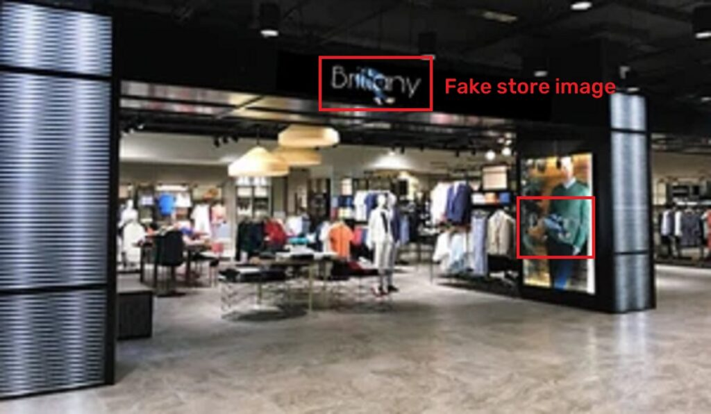 brittany pants scam fake store image