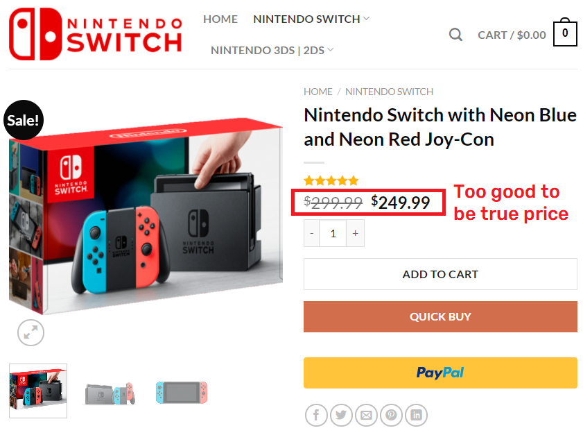 switchonlines scam fake price