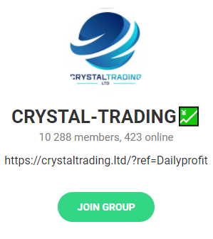 crystal trading scam telegram group