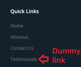 fake testimonial link