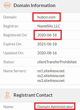 hubcsr scam whois