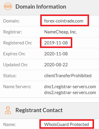 forex-cointrade scam whois