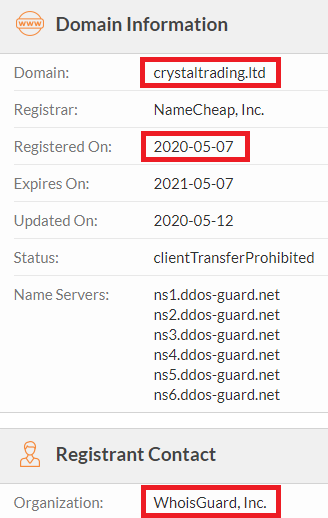crystal trading scam whois