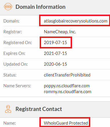 atlas global solutions scam whois