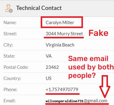 easytypingjob scam whois 2