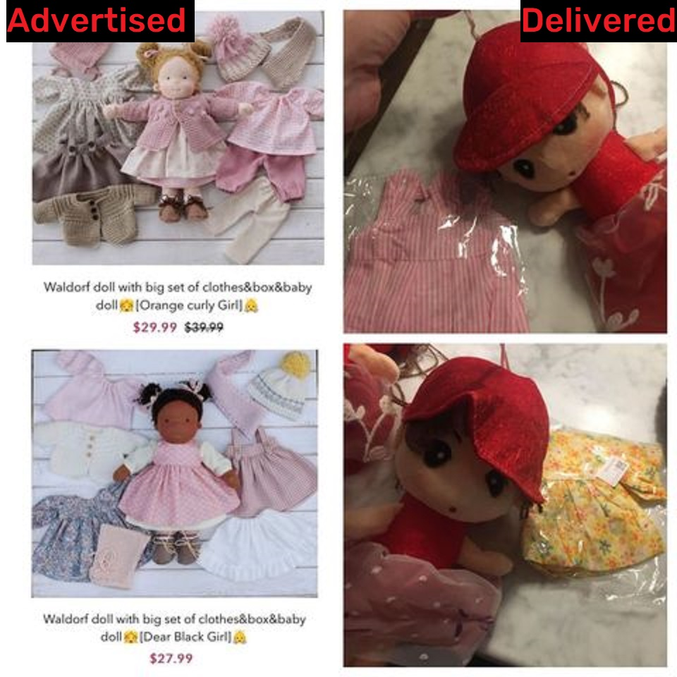 waldorf dolls scam fake doll 6
