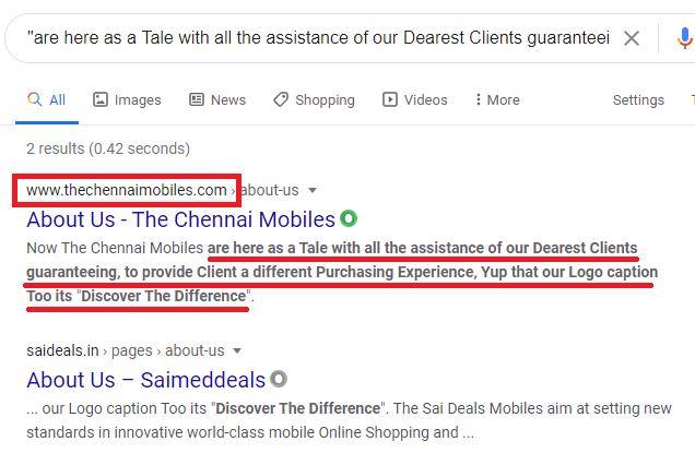 saideals scam copied content 2