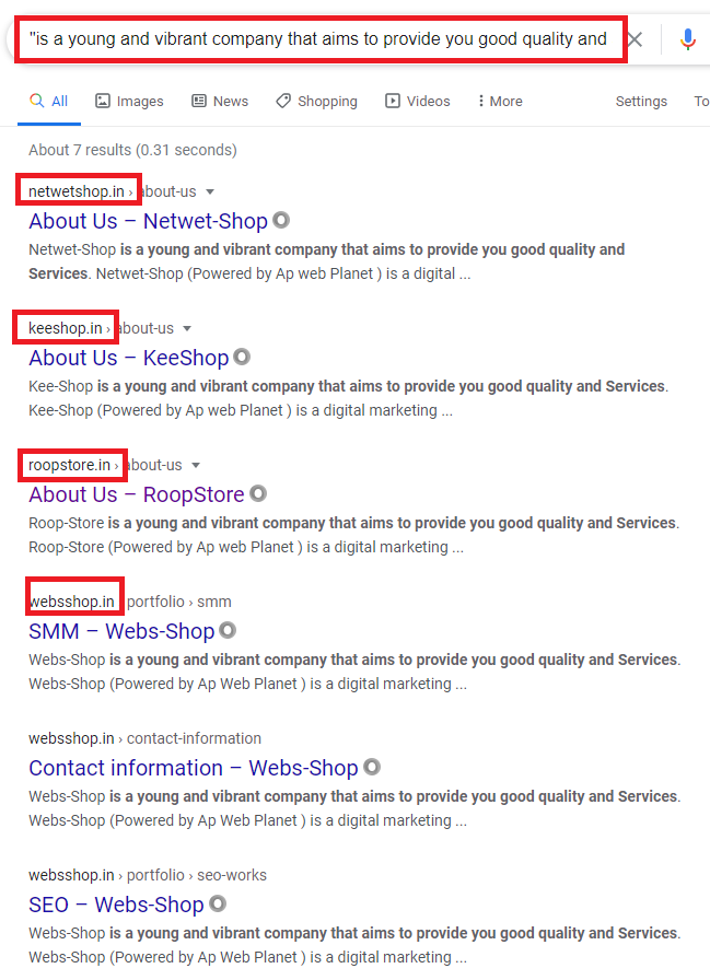 roopstore scam copied content 2