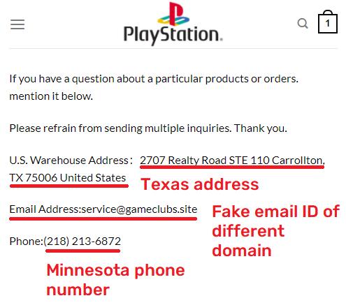 playsporegame scam fake contact details
