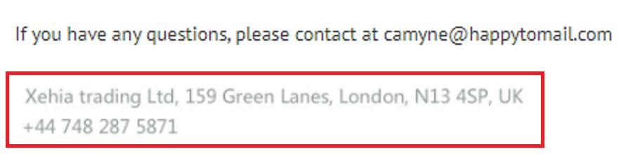 xehia trading ltd scam contact camyne