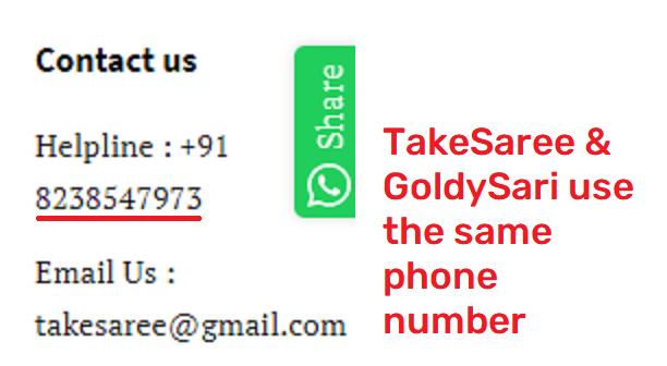 takesaree scam fake phone number