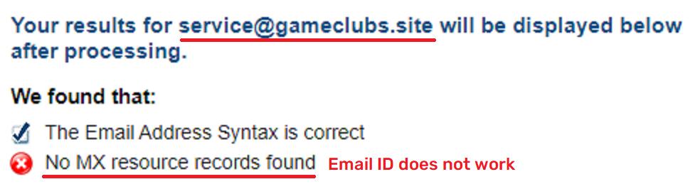 playsporegame scam fake email ID