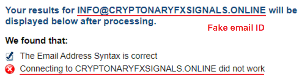 CryptonaryFxSignals fake email address