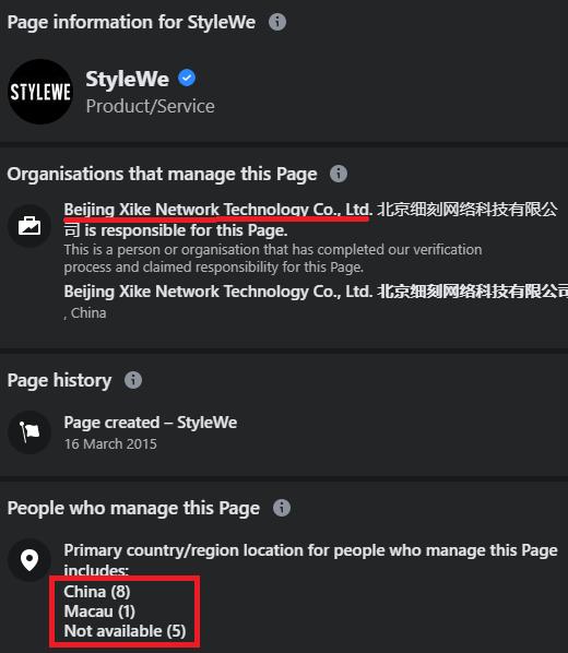 stylewe chicv scam facebook page