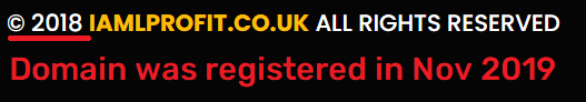 iamlprofit scam fake website age