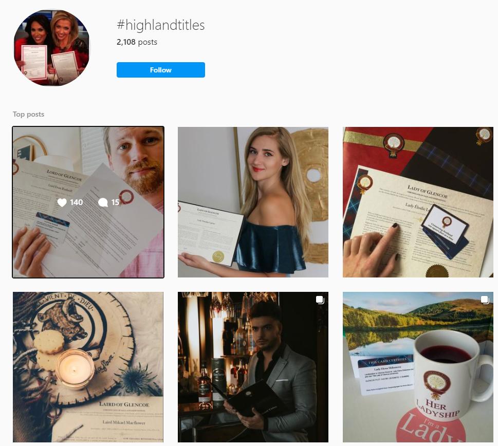 highlandtitles hashtag instagram